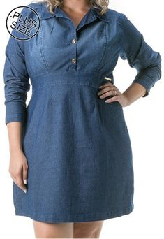 Plus Size Jeans, Vestidos Plus Size, Looks Plus Size, Shirt Dress, Shirts, Dresses, Fashion, Maxi Styles, Dress Making
