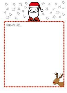 Carta a Papa Noel para imprimir