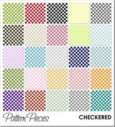 Pattern Pieces :: CHECKERED  free.  the black would be great for a lightning mcqueen/race car party