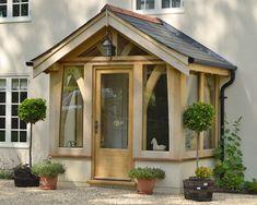 Home - Dorset Timber Front Entry, Entry Doors, Front Doors, Entrance, Porch Oak, Enclosed Front Porches, Cottage Extension, Oak Framed Buildings, Porch Windows