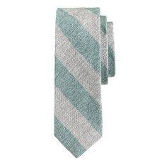 J.Crew - Irish linen tie in stripe