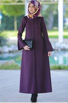 Rabia Şamlı Erva Patlı Elbise Mor