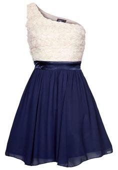 Cocktailkleid / festliches Kleid - cream/navy