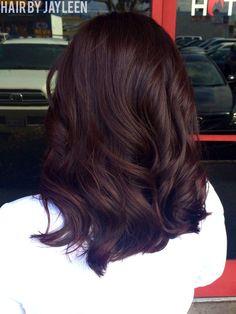 Deep violet hair, medium length hair, purple hair, Hair by Jayleen, the Hot Seat Salon, San Diego