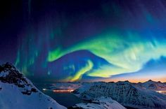 Book a Hurtigruten Cruise and visit beautiful Norway to see the Northern Lights which will leave you feeling rejuvenated and in awe of nature! Northern Lights Norway, See The Northern Lights, Beautiful Sky, Beautiful Places, Beautiful Norway, Beautiful Landscapes, Places To Travel, Places To See, Norwegian Sky