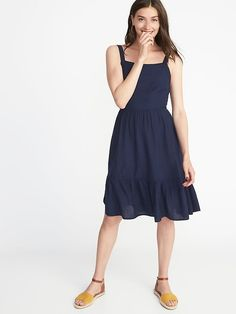$35 Old Navy - Apron-Front Fit & Flare Dress for Women