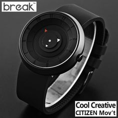 BREAK 2016 futuristic luxury brand  men women black waterproof fashion casual military sports quartz watches relogios wristwatch-in Sports Watches from Watches on Aliexpress.com | Alibaba Group