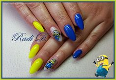 It`s all about nails: The Minions- gel polish http://radi-d.blogspot.com/2015/03/the-minions-gel-polish.html