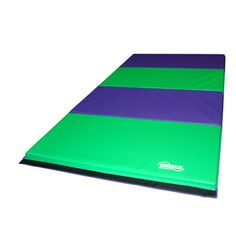 8ft Purple and Lime Green Folding Mat. This mat is excellent for beginning and advanced gymnastics, exercise, aerobics, plus more. The mat is great for home use and competitive gymnastics. Satisfaction is Guaranteed The folding mats will fold down to (4) 2ft X 4ft sections to allow easy transport and storage. We are the manufacturer so we can make any color combo. Nimble Sports guarantees everything sold with a 1 year warranty. #Gymnastics #MadeinAmerica #MadeinUSA #GymnasticsEquipment
