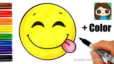 draw face happy excited emoji easy drawing silly coloring drawings emoticon faces cartoon kawaii step dibujos feliz clipart learn animados
