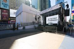 We're ready for the launch of the Samsung Galaxy S4 and Galaxy Gear smart watch Sep 4 in Times Square.