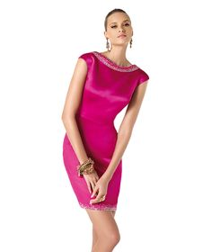 Perfect for Valentine's dinner - Pronovias 2014 fuchsia sateen dress The Dress, Pink Dress, Mode Style, Pink Fashion, Occasion Dresses, Pretty Dresses, Beautiful Outfits, Ideias Fashion, Evening Dresses