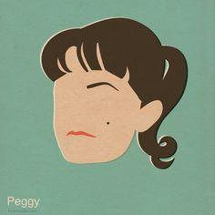 Peggy - Mad Men Inspired Illustrations by n. b.  #madmen #madmenfanart #fanart