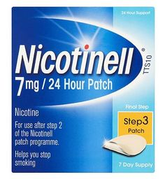 Nicotinell 7mg/24 Hour Patch Step 3 Patch (7 day 32 Advantage card points. Nicotinell patch is an aid to combat the withdrawal symptoms caused by giving up smoking. Each transdermal patch contains 17.5mg nicotine. See details below, always read the  http://www.MightGet.com/february-2017-1/nicotinell-7mg-24-hour-patch-step-3-patch-7-day.asp