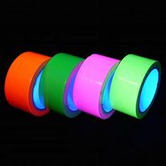 UV Neon Klebeband / Tape - 4 Farben Set