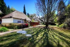 Located in Hogsback on the Eastern Cape of South Africa, this thatched-roof hotel offers rooms or self-catering cottages surrounded by native forest. Best Holiday Destinations, London Airports, Self Catering Cottages, Bright Rooms, Thatched Roof, Comfy Bed, East London, Mountain View, Hotel Offers