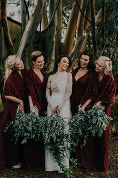Wedding Styles, Wedding Photos, Bridesmaids, Bridesmaid Dresses, Beautiful Bouquets, Red Maxi, Marsala, Maxi Dresses, True Love
