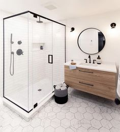 Bathroom Inspiration // Stephanie Fortier Design The Perfect Scandinavian Style Home Minimal Bathroom, Modern Bathroom, Master Bathroom, Bathroom Inspo, Bathroom Inspiration, Bathroom Ideas, Scandinavian Style Home, Best Bathroom Designs, Bathroom Renos