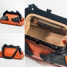 Hand's of Faith crocodile skin handbag is fully lined in full grain tan leather. As good as it gets! #luxury #crocodile #crocodilehandbag #beige #kakadu #orange #mintabie #opal #black #leather #handsoffaith #australia #ny #usa #uk #la #sydney...