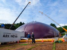 Lucerne Festival Ark Nova: inflatable mobile concert hall by Arata Isozaki and Anish Kapoor