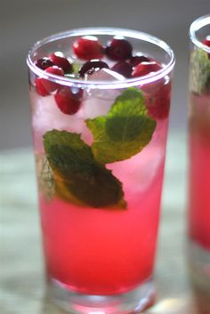 Cranberry haters take note: These tart berries become much more palatable when served in mojito form. Simply take a sip after a bite of turkey, and, boom, tradition observed.
