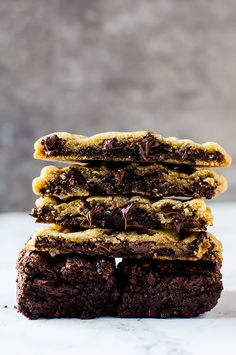 There is nothing better than a brownie stuffed chocolate chip cookie