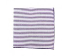Pochette de costume à Rayures Violet Purple stripe pocket square                      Le Colonel Moutarde, hand made in France