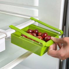 Plastic Kitchen Fridge Storage Rack Freezer Shelf Holder Kitchen Organization Moving Box