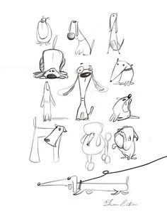 Animal Drawings Animal sketches by Susan Batori, via Behance - Animal Sketches, Animal Drawings, Drawing Sketches, Art Drawings, Sketches Of Dogs, Cartoon Sketches, Horse Drawings, Drawing Art, Sketching