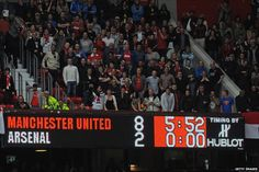 28 Aug 2011 - Manchester United vs Arsenal. It's a match that is always anticipated by both sets of fans as well as the neutrals out there, looking to watch a good game. However, no one would have predicted this scoreline at 90 mins: 8-2. Man City score 5, Man United score 8. Bad day for London teams