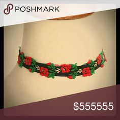 Embroidered Rose Retro Choker NEW IN PACKAGE, TWO (2) pieces in stock Jewelry Necklaces