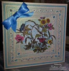 Butterfly, Bow and Flowers Card