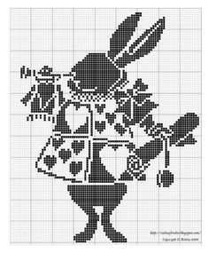 Alice in wonderland cross stitch Cross Stitch Charts, Cross Stitch Designs, Cross Stitch Patterns, Blackwork Embroidery, Cross Stitch Embroidery, Alice In Wonderland Cross Stitch, Stitch Disney, Stitch Character, Diy Broderie