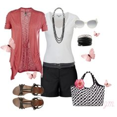 Pink & Black, created by jenniemitchell on Polyvore