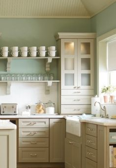 open shelves cabinet colors