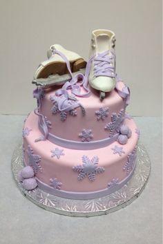 Figure skating cake