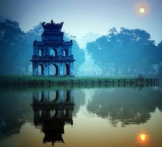 Early winter at Sword Lake, Hanoi, Vietnam