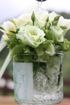 Zeremonie Dekoration - Hochzeit in Grün und Weiß im Riessersee Hotel Garmisch-Partenkirchen Bayern, Regenhochzeit im Sommer, Wedding Bavaria - wedding green white