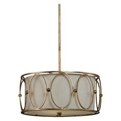 Have to have it. Uttermost 21955 Ovala Pendant - 20W in. Antiqued Gold Leaf - $294.8 @hayneedle