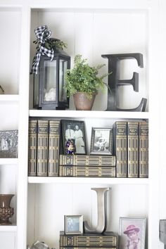 well styled built in bookcases