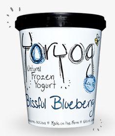 Yorvale Yoryog Natural Frozen Yogurt, Blissful Blueberry