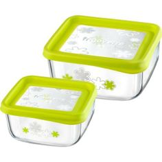 Kinetic Go Green GlassLock 1332 17 Ounce Square Glass Food Storage