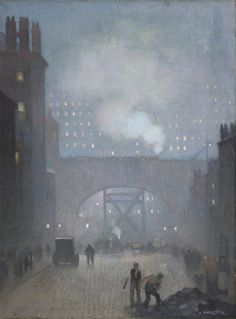 York Street Leading to Charles Street, Manchester - Adolphe Vallette, 1913