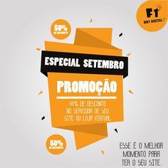 Excelente OPORTUNIDADE para ter o espaço de sua empresa no meio digital.    Mais Informações:  37 3016-3133  atendimento@f1mktdigital.com.br  Rua Pernambuco,2301, Ipiranga - Divinópolis/MG    #Promoção #Desconto #Site #LojaVirtual #MarketingDigital #SejaVisto