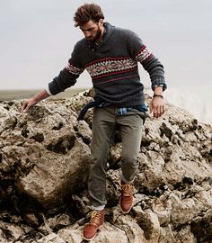 Sometimes these sweaters look a little too metro but this is done right! Rugged yet tailored... Love it!