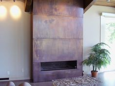 Cool copper fireplace