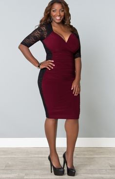 "I need this dress..it would be so sexy for a holiday party. #curvy   ""if you like my curvy girl's fall/winter closet, make sure to check out my curvy girl's spring/summer closet.""   http://pinterest.com/blessedmommyd/curvy-girls-springsummer-closet/pins/"