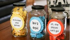DIY:  Activity Jars - such a cute idea to make these for your fam for the summer and each day someone picks one and you knock each activity off the bucket list! LOVE IT.