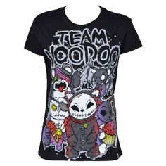 Voodoo Team 13 T-Shirt schwarz ($27) ❤ liked on Polyvore