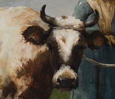 Art the French Realist artist Julien Dupré Art And Illustration, Barbizon School, Beaux Arts Paris, Bull Cow, Art Gallery, Cow Painting, Cow Art, Ouvrages D'art, Animal Paintings